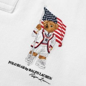 Polo Ralph Lauren Polo Bear US flag polo